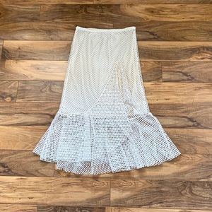 ZARA Fishnet Skirt